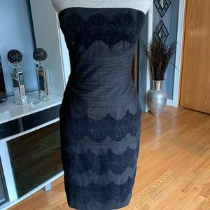 White House Black Market Lace Strapless Dress